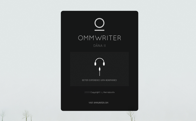 OmmWriter ヘッドフォン