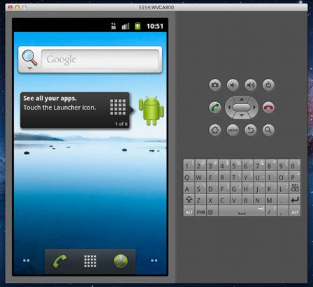 Androidエミュレータ