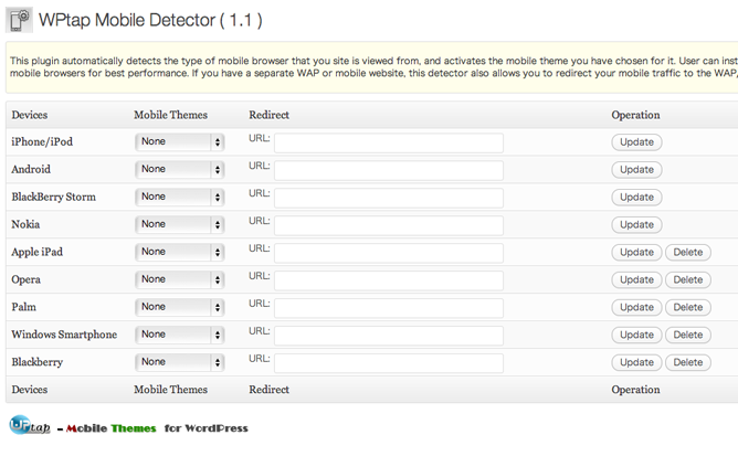 WPtap Mobile Detector インストール