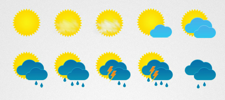 29 weather icons