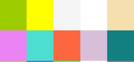147 Colorsのサンプルカラー