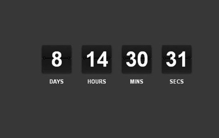 How to Code a jQuery Rolodex-Style Countdown Ticker