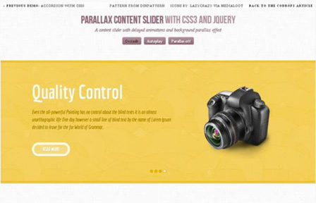 Parallax Contenet Slider with jQuery