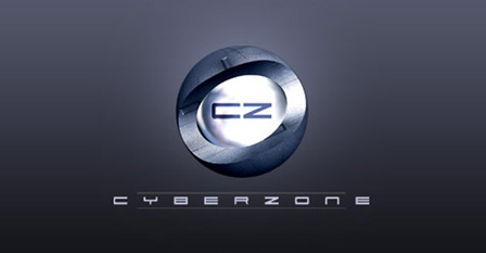 Metallic Logo Design – Cyber Zone