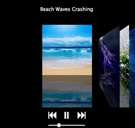 ビーチでの波の音