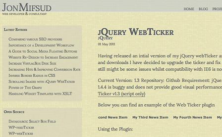 jQuery WebTicker