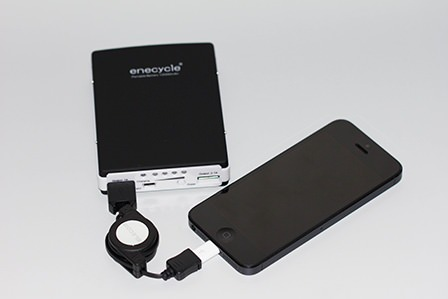 enecycle EN06でiPhone5を充電