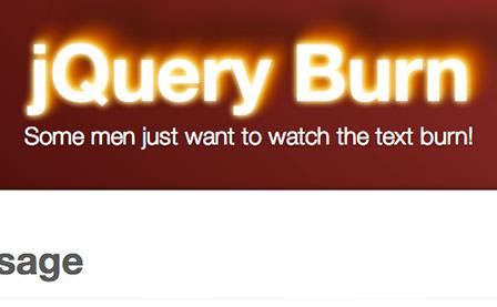 jQuery Burn