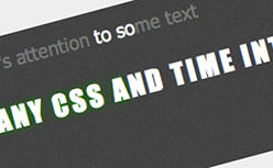 Art Text Light jQuery plugin