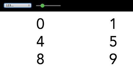 数字のサンプル