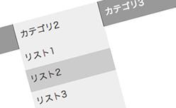 CSSで可変式ドロップダウンメニュー