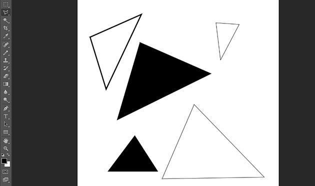 Photoshopで三角形を描く