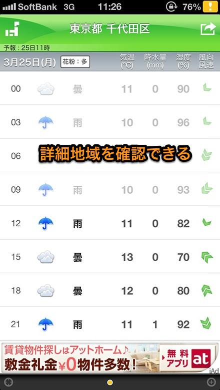 今日明日の天気
