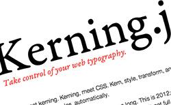 Kerning.js