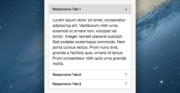 Easy Responsive Tabs to Accordion