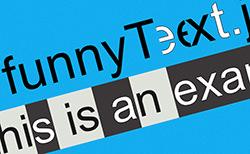 funnyText.js