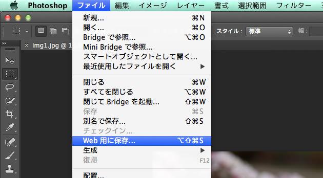 Web用に保存