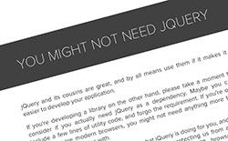 jQueryを使わないコード集