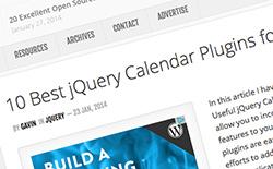 jQueryプラグインで実装できるカレンダー