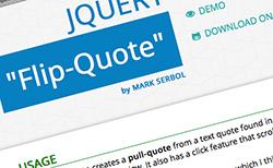 jQuery Flip-Quote