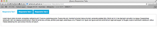 jQuery Responsive Tabsの使い方