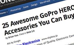 GoPro HERO3+に使えるアクセサリー