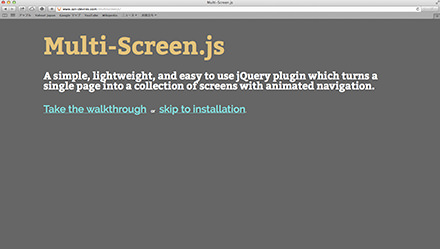 Multi-Screen.js