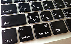 Macでcommand + Zを元に戻す
