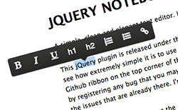 jQuery Notebook
