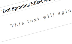 Simple Text Spinning Effect With JQuery