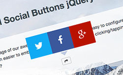 Cool Social Buttons jQuery Plugin
