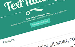 TextTailor.js
