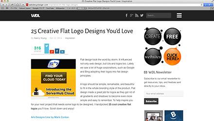 フラットデザインのロゴ