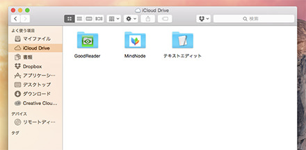 Mac側のGoodReaderのフォルダ