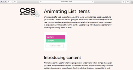 Animating List Items