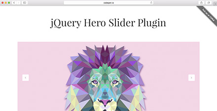 jQuery Hero Slider Plugin