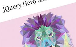 jQuery Hero Slider Plugin