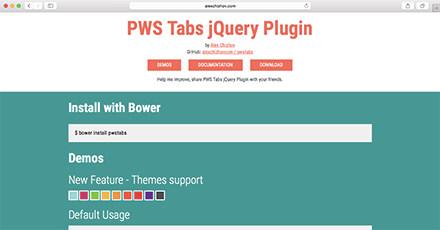 PWS Tabs jQuery Plugin