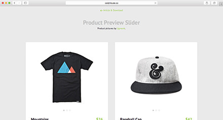 Product Preview Slider