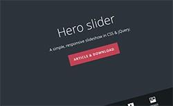 Hero slider