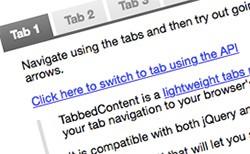 TabbedContent