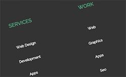 Responsive overlay menu