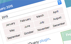Create a month picker jQuery plugin