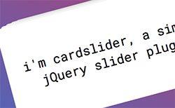 jQuery cardslider