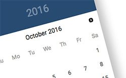 jQuery ui material design datepicker