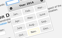 jQuery UI Month Picker Plugin