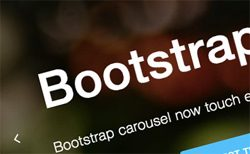 Bootstrap Carousel Touch Slider with Text Animation