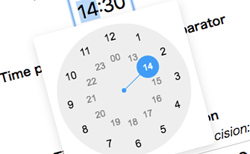 Clock Timepicker Plugin for jQuery