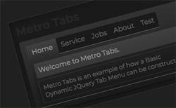 Basic Metro Dynamic jQuery Tab Menu