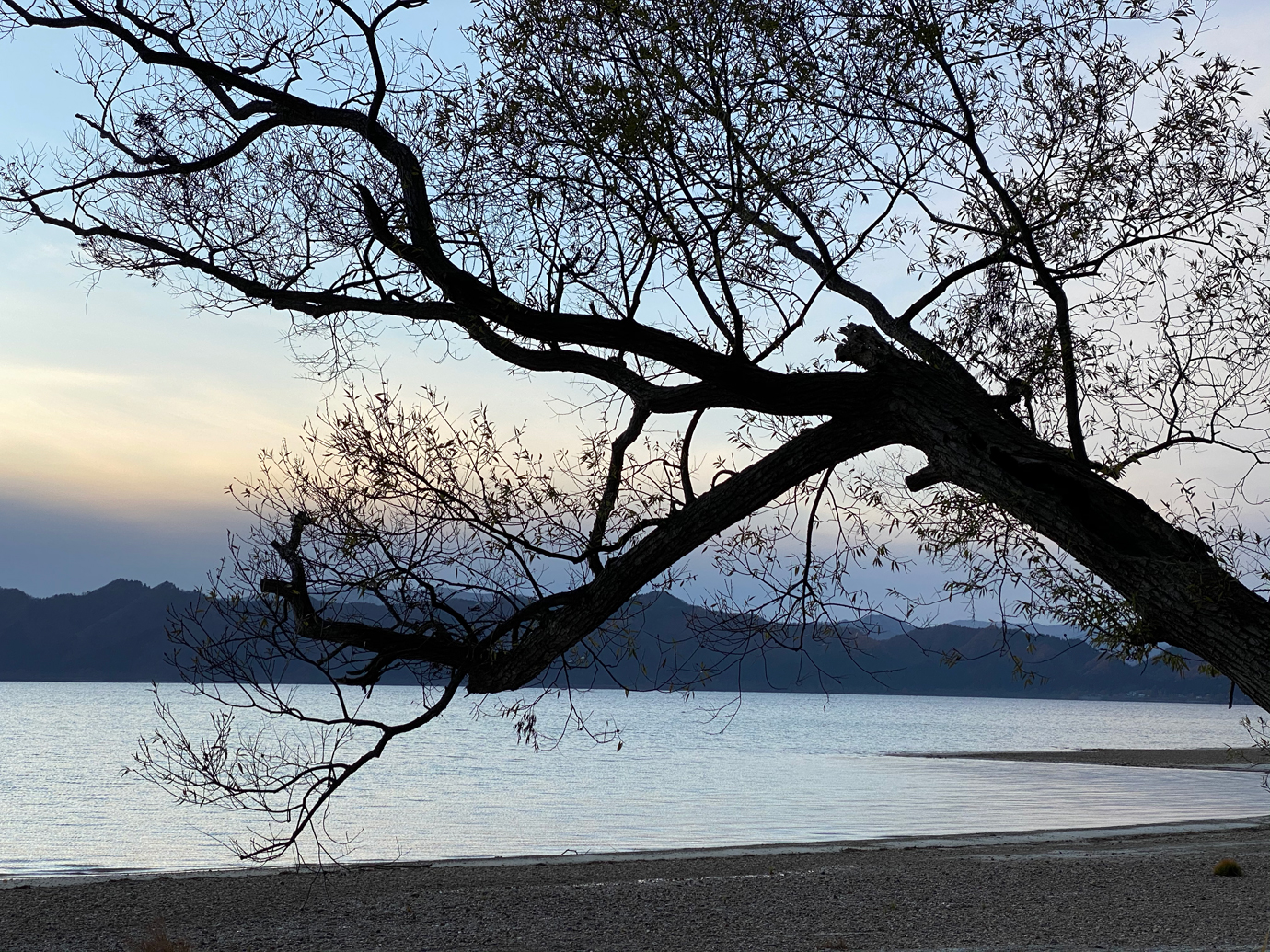 iPhone 11 Proの望遠レンズで撮影した田沢湖
